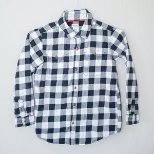 Boys black/white buffalo check flannel by Carter's